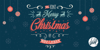 Merry Christmas Font design typography