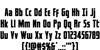 Captain Canaveral Font Letters Charmap