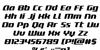 Delta Phoenix Italic Font Letters Charmap