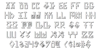Elder Magic Shadow Font Letters Charmap