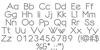Dotline Bold Font Letters Charmap
