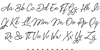 Tomatoes Font Letters Charmap