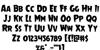 Mrs. Monster Regular Font Letters Charmap
