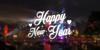 Merry Christmas Font fireworks text