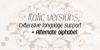 Kandira PERSONAL Font design typography