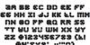 Zoom Runner Font Letters Charmap