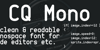 CQ Mono Font screenshot design