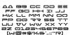 Free Agent Font Letters Charmap