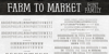 Farm to Market Font text