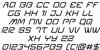 Miracle Mercury Italic Font Letters Charmap
