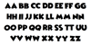 Wicked Mouse Font Letters Charmap