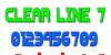 Clear Line 7 Font screenshot design