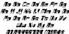 Drosselmeyer Italic Font Letters Charmap