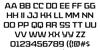 American Captain Patrius 02 FRE Font Letters Charmap