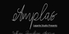 amplas Font handwriting text