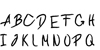 Conflict Font handwriting text