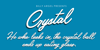 Crystal Personal Use Font design typography