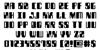 Zyborgs Font Letters Charmap