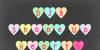 DJB Shape Up Hearts Font design heart