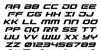 Gunship Italic Font Letters Charmap
