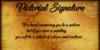 Pictorial Signature Font text