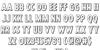 Hanging Tree 3D Font Letters Charmap