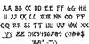 Bushido Bold Font Letters Charmap
