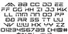 Banshee Pilot Black Font Letters Charmap