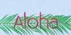 Aloha Font drawing sketch