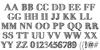 FiveDollar Font Letters Charmap