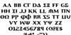 Aegis Font Letters Charmap