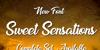 Sweet Sensations Personal Use Font text screenshot