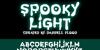 Spooky Light Font screenshot design