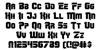 OmegaForce Regular Font Letters Charmap