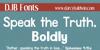 DJB Speak the Truth Font screenshot bottle