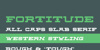 Fortitude Font screenshot font