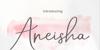 Aneisha Script Bold Font handwriting typography
