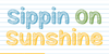 Mf Sippin On Sunshine Font design graphic