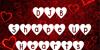 DJB Shape Up Hearts Font text book