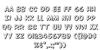 Overstreet Bible 3D Font Letters Charmap