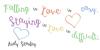 Austie Bost Dreamboat Font handwriting text
