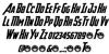 Avengeance Font Letters Charmap