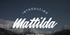 Mattilda Font design text