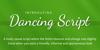 Dancing Script Font text screenshot