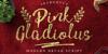 Pink Gladiolus Font text handwriting