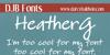 DJB HeatherG Font text blackboard