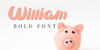 William Font cartoon toy