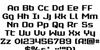 Realpolitik Font Letters Charmap