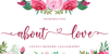 About Love Font poster
