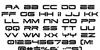 Dodger Font Letters Charmap
